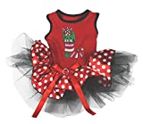 Petitebella Puppy Clothes Xmas Sock Red Polka Dots Christmas Dog Dress (XX-Large)