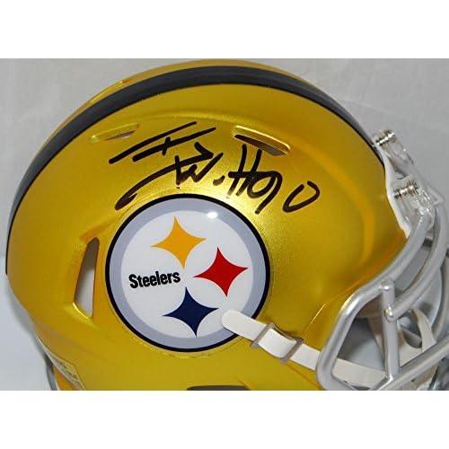ddca93446 Autographed Tj Watt Signed Pittsburgh Steelers Blaze Mini Helmet- JSA  Certified