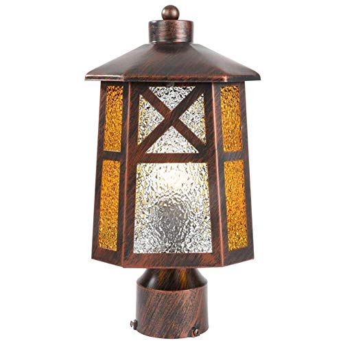 BETLING Outdoor Post Lantern Pier Mount Light Fixture, Oil Rubbed Bronze