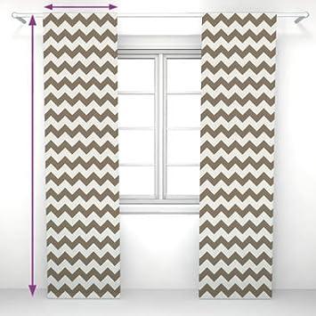 Saustark Design panel curtain in hamptons zic zac by saustark design beige amazon