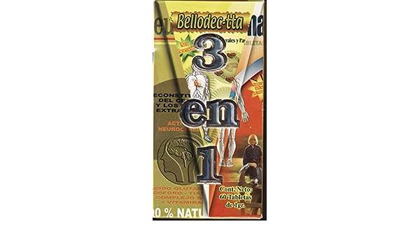 Amazon.com: 3 en 1 vitaminas, Bellodecta, Neurobrion, y Fharmaton.: Health & Personal Care