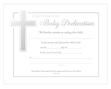 High Quality Baby Dedication Certificates (Isaiah 54:13) Pack Of 6 Ideas