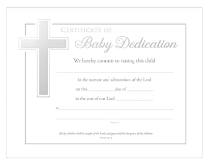 Amazon Baby Dedication Certificates Isaiah 54 13 Pack Of 6 White 85 X 11 Office Products