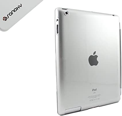 iPad 2 CRYSTAL Light Blue SLIM HARD BACK CASE Snapon iPad Safety Hard Back Cover