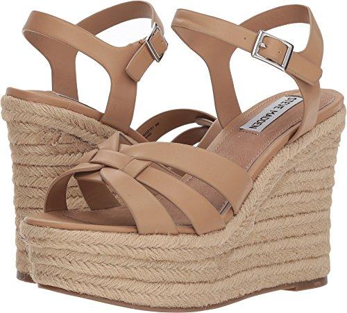 Steve Madden Women's Knight Wedge Sandal, Tan, 6 M US