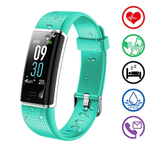 KALINCO Fitness Tracker, Color Screen Customized Activity Tracker Heart Rate, Sleep Monitor,Calories Counter, IP68 Waterproof, Steps Pedometer for Kids, Women Men.