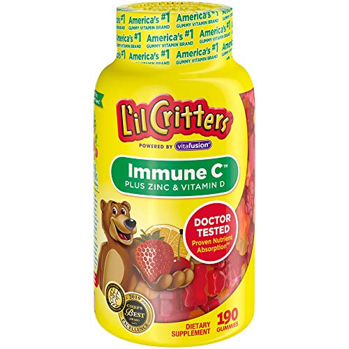L il Critters Kids Immune C Plus Zinc and Vitamin D, 190 Count