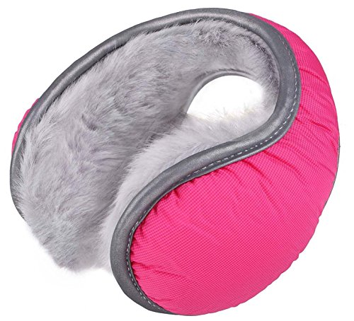 Mens Winter Water Resistant Outdoor Earmuffs with Safety Reflective Stripes