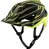 Troy Lee Designs Pinstripe Adult A2 Bike Sports BMX Helmet - Black/Yellow / X-Small/Small