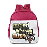 XJBD Custom Personalized Grand Theft Auto V Kids School Bagpack For 1-6 Years Old Pink