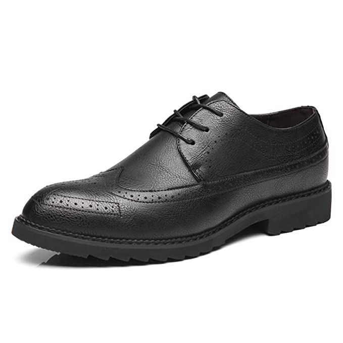 826f85e28d35 Amazon.com: Hilotu Men's Business Casual Shoes Comfortable Oxford ...