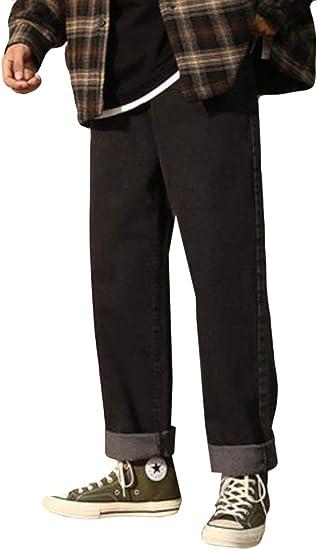 AOZUOメンズ ジーンズ 裏起毛 秋冬 ゆったり ストレッチパンツ メンズ ハレムパンツ ジーンズ 暖かい 着痩せ 大きいサイズ メンズ 防寒 保温 通学 通勤 ストレッチパンツ
