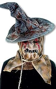 Máscara de espantapájaros con sombrero