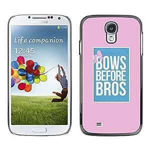 TopCaseStore / la caja del caucho duro de la cubierta de protección de la piel - Bros Pink Blue Poster Pink - Samsung Galaxy S4 I9500