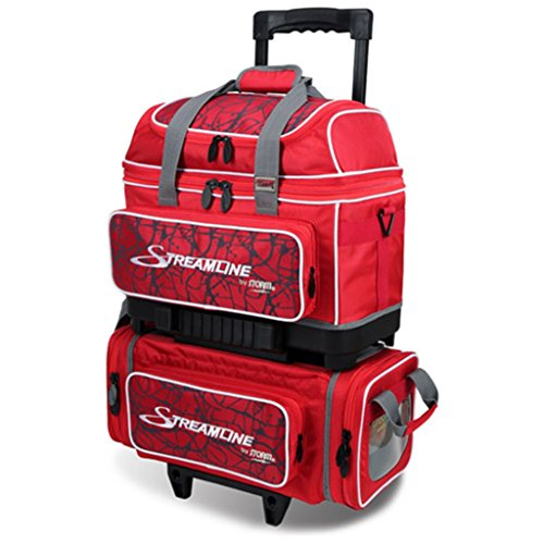 Storm Streamline 4 Ball Roller Bowling Bag Red Crackle/Red by Storm