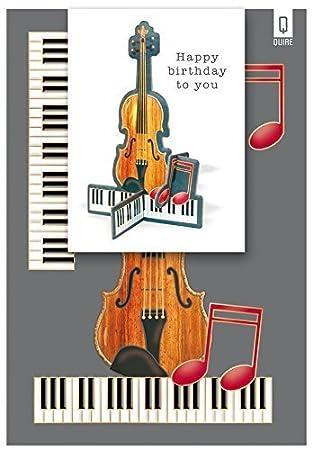 Tarjeta de felicitación de guitarras acústicas Feliz cumpleaños - tarjeta de felicitación hermosa - Impreso en Holanda: Amazon.es: Oficina y papelería