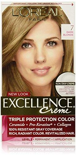Amazon Com L Oreal Paris Healthy Look Hair Color 7g Dark Golden Blonde Golden Latte Hair Color Refreshers Beauty