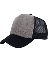 Mesh Snapback Trucker Baseball Cap Hat With Adjustable Snapback Strap