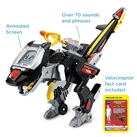 Educational Toy for Children Boys /& Girls 3 VTech Switch /& Go Dinos: Commander Blister the Velociraptor Kids Toy 5 4 Interactive Preschool Dinosaur Toy that Switches Into Helicopter 6+ Year Olds