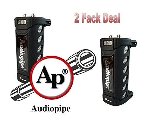 2 Pack Audiopipe ACAP-6000 6 Farad Digital Power Capacitor Car Audio Amplifier (Digital Capacitor 24v)
