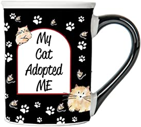 My Cat Adopted Me Mug, Cat Mug, Gifts for Cat Lovers, Pet Coffee Cup, Ceramic Mug, Pet Gifts By Tumbleweed