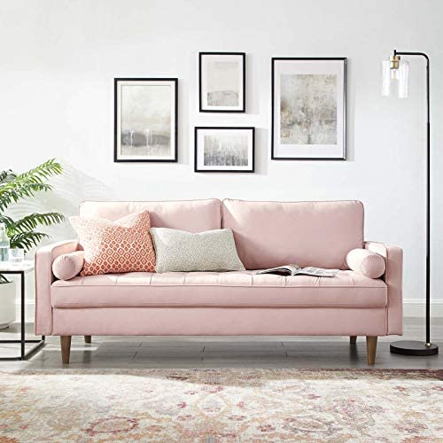 Modway Valour Performance Velvet Upholstered Tufted Sofa