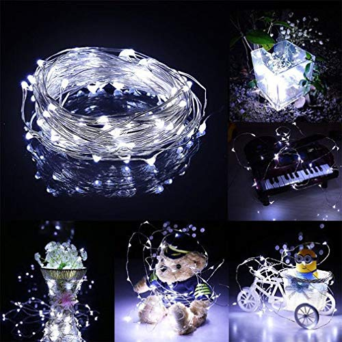 MSKJ Waterproof Fairy Lights, led Twinkle Lights with Remote Timer Function USB Music Sync 32.8 FT USB Plug in String…