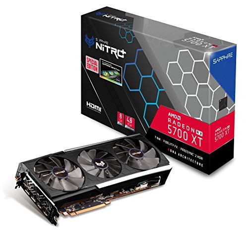 Sapphire Radeon Nitro+ Rx 5700 Xt 8GB GDDR6 Dual HDMI/ Dual DP OC (UEFI) Special Edition PCIe 4.0 Graphics Card