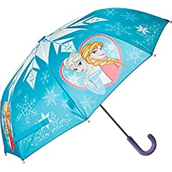 Western Chief Kids Women's Frozen Elsa & Anna Umbrella (Youth) Blue Umbrella One Size