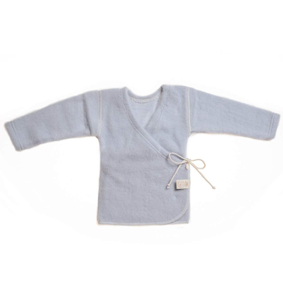 LANACARE Organic Wool Baby Sweater, Light Blue, Size 50 (0-3 mo) by LANACare
