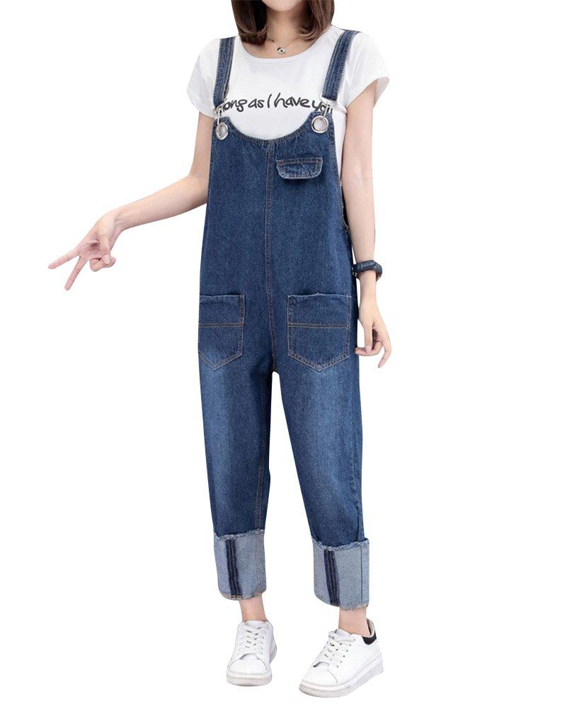 ZiXing Donne Denim Elegante Salopette Jeans Ragazza Gonna Casuale Elegante Lunga Jeans