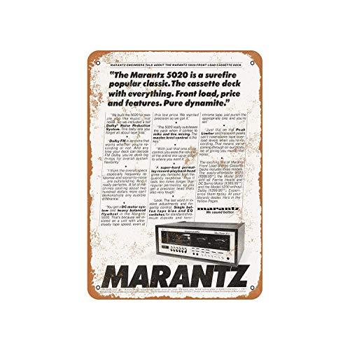 Fhdang Decor 1977 Marantz 5020 Cassette Deck Vintage Look Metal Sign Aluminum Sign,12x18 Inches