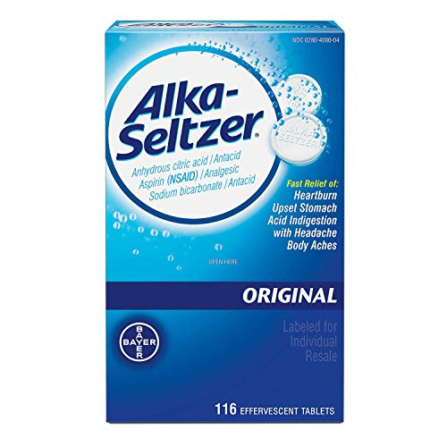 SCS Alka-Seltzer Original Antacid and Analgesic - 116 ct.