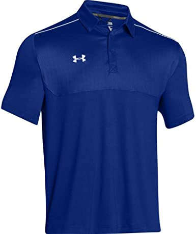 Under Armour Mens Ultimate Polo Golf Shirt Top, Royal/White ...