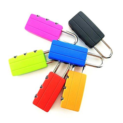 Zhi Jin Plastic Travel Combination Lock Luggage Code Locks Gym Lockers Padlock Set Bulk School Outdoor Pack of 15 by Zhi Jin