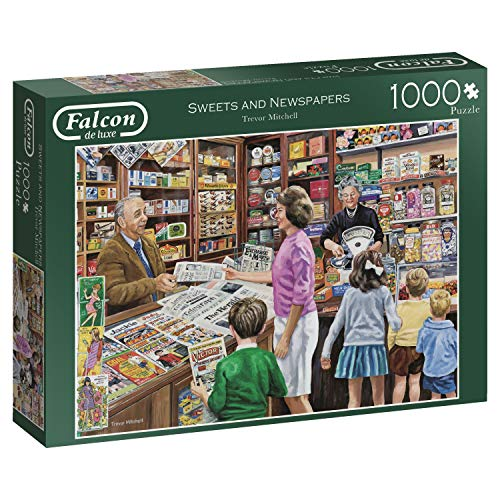 Jumbo 11236 Falcon de Luxe-Sweets and Newspapers 1000 Piece Jigsaw Puzzle, Multi