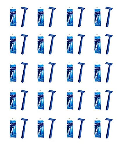 Super Max Men's Disposable Razors Twin Blade Shavers Bulk Wholesale (10pk x 36= 360 Razors) (Super Max Razor Blade)