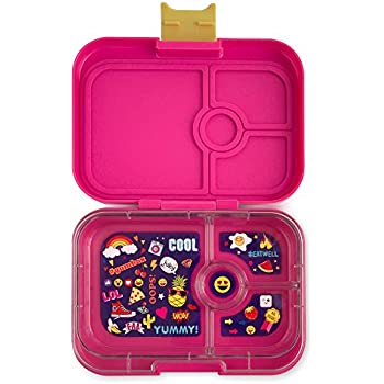 YUMBOX Panino (Kawaii Pink; Emoji Tray) Leakproof Bento Lunch Box Container for Kids & Adults