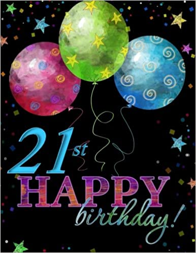 21st Happy Birthday Memory Book 21st Birthday Decorations in All