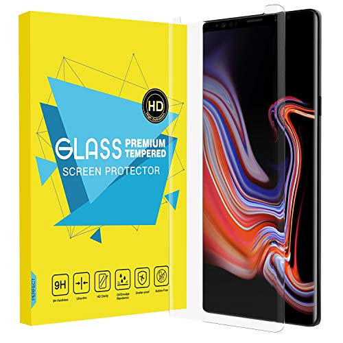 MoKo Samsung Galaxy Note 9 Screen Protector, [3D Curved Edge] [Full Screen Coverage] Ultra Clear Hardness Tempered Glass Screen Protector [Case Friendly] Anti-Scratch Film for Galaxy Note 9 - Clear