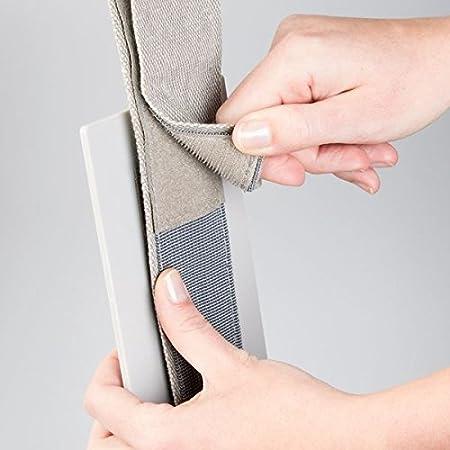 MetroDecor mDesign Estanteria para Colgar en la Puerta - Organizador para armarios sin Tornillos para baño o Armario - Repisa Colgante con Espejo - 2 ...