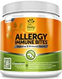 Allergy Immune Supplement for Dogs - With Omega 3 Wild Alaskan Salmon Fish Oil & EpiCor + Prebiotics & Probiotics - Anti Itch & Skin Hot Spots + Seasonal Allergies - Peanut Butter Flavor - 90 Chews