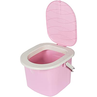 BranQ - Home essential Mobile Toilette Inodoro portátil para Camping, Unisex Adulto, Rosa, 15,5l