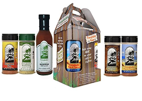 Everglades Seasoning Spice Shack 4 Spices and Moppin Sauce Bundle by Everglades