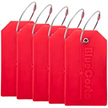 BlueCosto 5x Luggage Tags Travel Bag Suitcase Labels w/ Privacy Cover