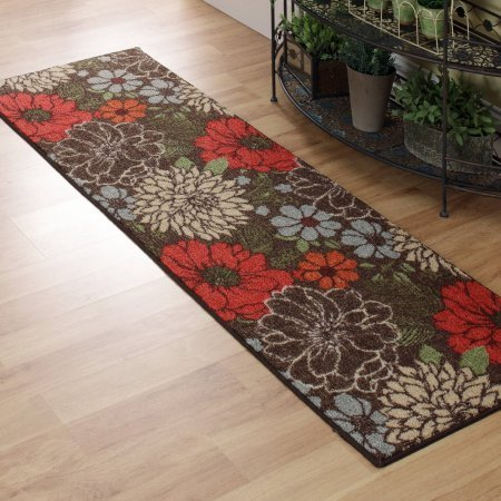 "Better Homes and Gardens Sorbet Faux Hook Floral Runner Rug, Multi-Color, 1'11"" x 6' from Better Homes & Gardens"