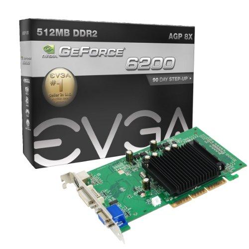 Evga Geforce 6200 Nvidia (256 A8 N341 BE - evga 256 A8 N341 BE EVGA nVidia Geforce 6200 Fanless 512MB 64bit Video Card DVI VGA S)