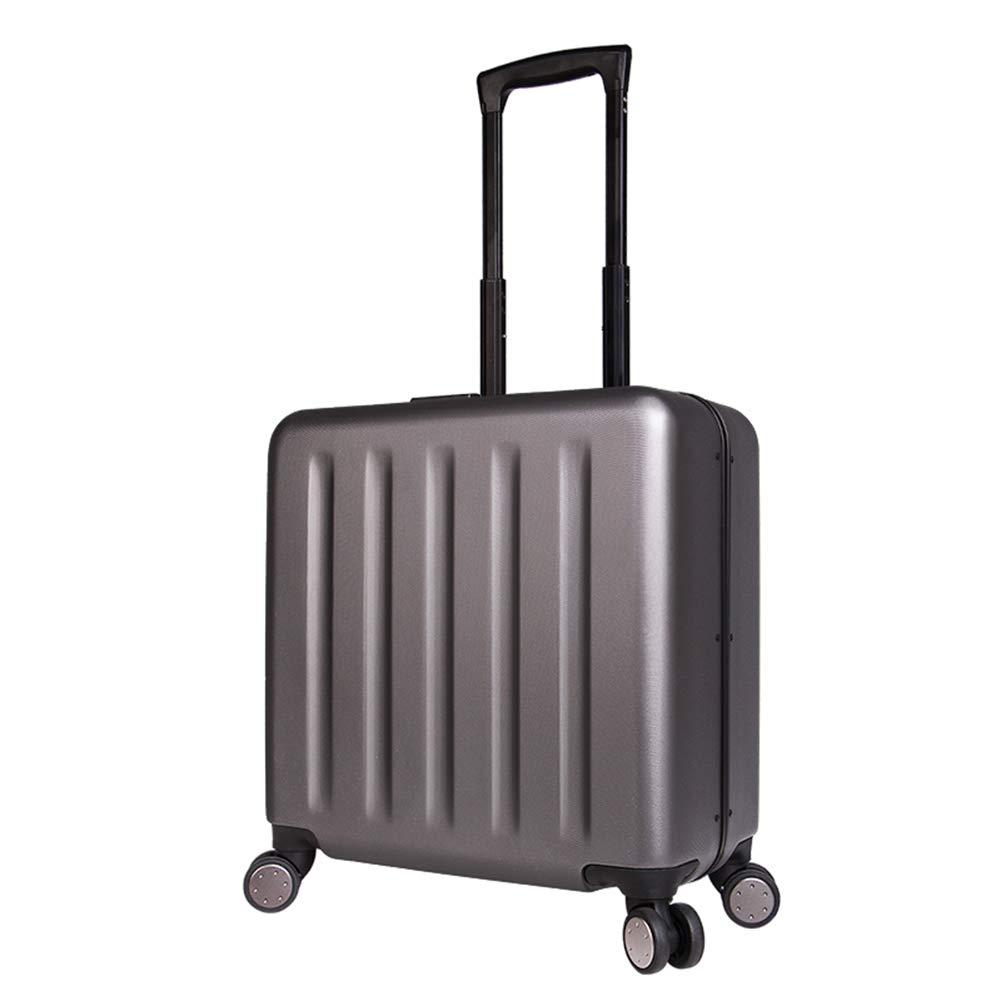 18インチの手荷物のPCの軽量の堅い貝のキャビンケース、4つの車輪360°の紡績旅行のトロリー、反衝突のアルミ合金フレームおよびラップトップコンパートメントトロリー袋。 B07MS1DJL6 dark gray