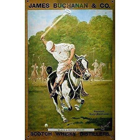 James Buchanan Whisky escocés Polo caballo viejo anuncio 3d tamaño ...