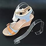 No.2 Warehouse Pack of 20 Acrylic Sandal Shoe Store Display Stand Forms Inserts + a Piece of Clean Cloth